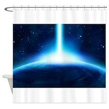 Worlds In Collision Shower Curtain