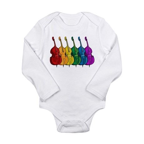 Double Bass Long Sleeve Infant Bodysuit