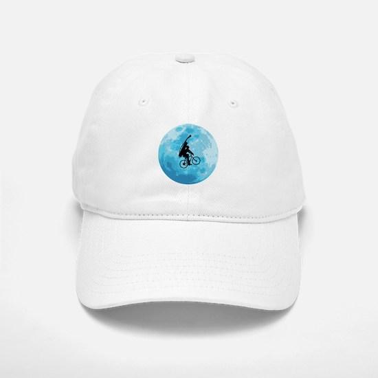 Cycling In Moonlight Baseball Baseball Cap