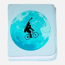 Cycling In Moonlight baby blanket