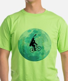 Cycling In Moonlight T-Shirt