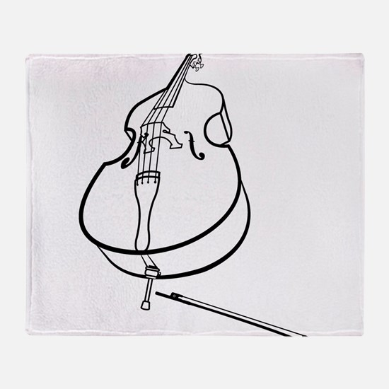 Double Bass Throw Blanket