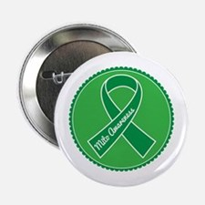 """Mito Research Green Ribbon 2.25"""" Button"""