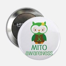 "Mito Awareness Owl 2.25"" Button"