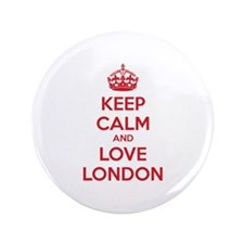 """Keep calm and love london 3.5"""" Button (100 pack)"""