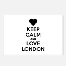 Keep calm and love london Postcards (Package of 8)