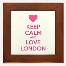 Keep calm and love london Framed Tile