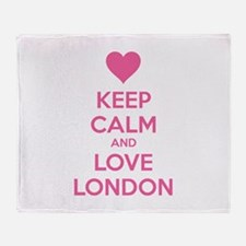 Keep calm and love london Throw Blanket