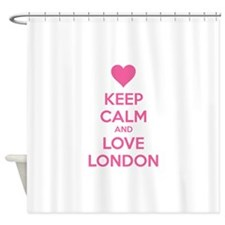 Keep calm and love london Shower Curtain