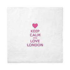 Keep calm and love london Queen Duvet