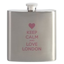 Keep calm and love london Flask