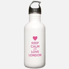 Keep calm and love london Water Bottle