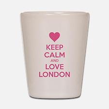 Keep calm and love london Shot Glass