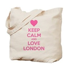 Keep calm and love london Tote Bag