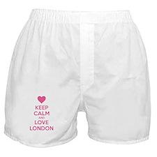 Keep calm and love london Boxer Shorts