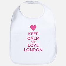 Keep calm and love london Bib