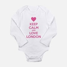 Keep calm and love london Long Sleeve Infant Bodys