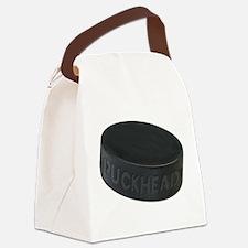 Hockey Puckhead Canvas Lunch Bag