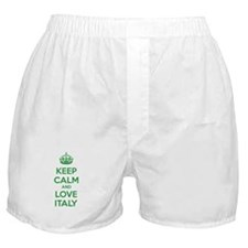 Keep calm and love Italy Boxer Shorts