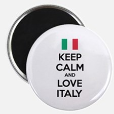 """Keep calm and love Italy 2.25"""" Magnet (10 pack)"""