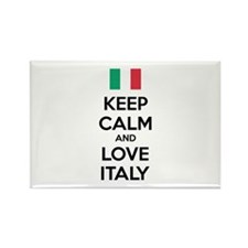 Keep calm and love Italy Rectangle Magnet (100 pac