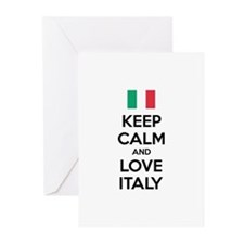 Keep calm and love Italy Greeting Cards (Pk of 10)