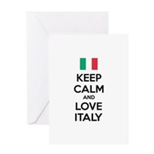 Keep calm and love Italy Greeting Card