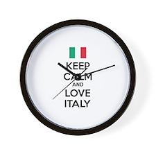 Keep calm and love Italy Wall Clock