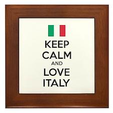 Keep calm and love Italy Framed Tile
