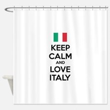 Keep calm and love Italy Shower Curtain