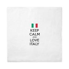 Keep calm and love Italy Queen Duvet