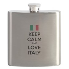 Keep calm and love Italy Flask