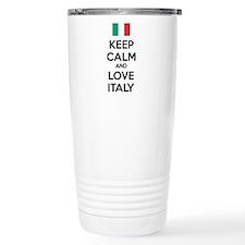 Keep calm and love Italy Travel Mug