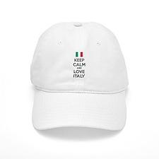 Keep calm and love Italy Baseball Cap