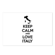 Keep calm and love Italy Postcards (Package of 8)