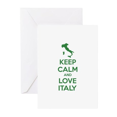 Keep calm and love Italy Greeting Cards (Pk of 20)