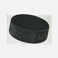 Hockey Puckhead Rectangle Magnet
