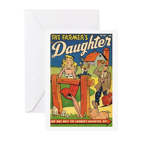 'Farmer's Daughter Comics #1 Greeting Cards (Pk of