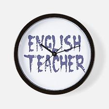 """English Teacher Faded"" Wall Clock"