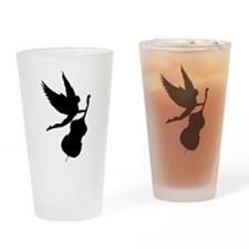 Double Bass Angel Drinking Glass
