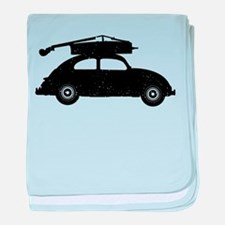 Double Bass On Car baby blanket