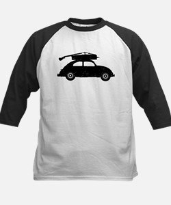 Double Bass On Car Kids Baseball Jersey