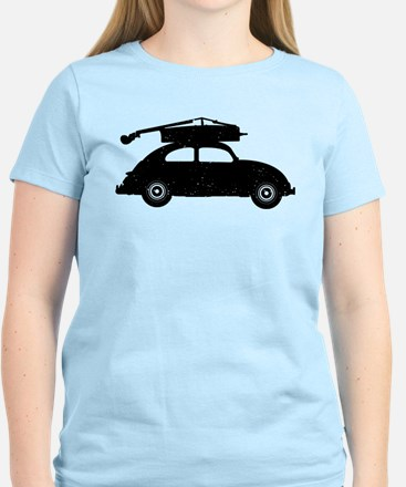 Double Bass On Car Women's Light T-Shirt