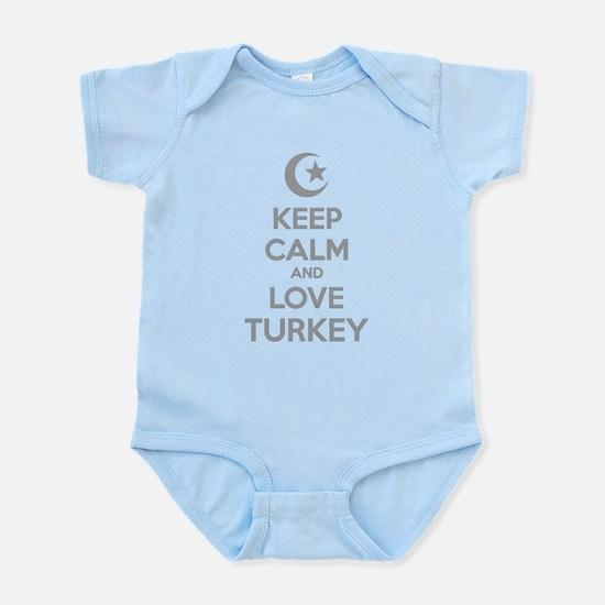 Keep calm and love turkey Infant Bodysuit