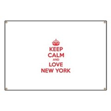 Keep calm and love New York Banner