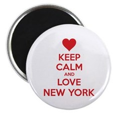 Keep calm and love New York Magnet