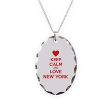 Keep calm and love New York Necklace Oval Charm