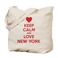 Keep calm and love New York Tote Bag