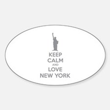 Keep calm and love New York Sticker (Oval)