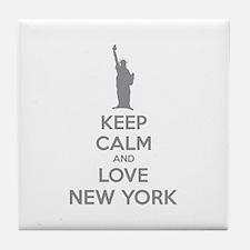 Keep calm and love New York Tile Coaster